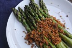 Roasted Asparagus with Panko-Anchovy Topping