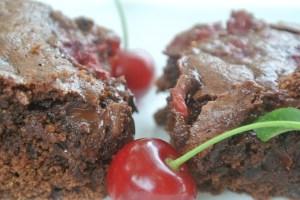 Dark Chocolate Cherry Brownies
