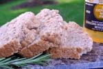 Roasted Garlic + Rosemary Beer Bread