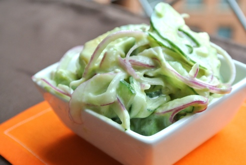 Cucumber - Avocado Salad
