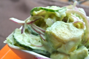 Cucumber - Avocado Salad 2