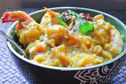 Pumkin Curry with Shrimp-1