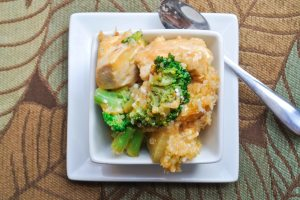 Broccoli Chicken Quinoa Casserole-1