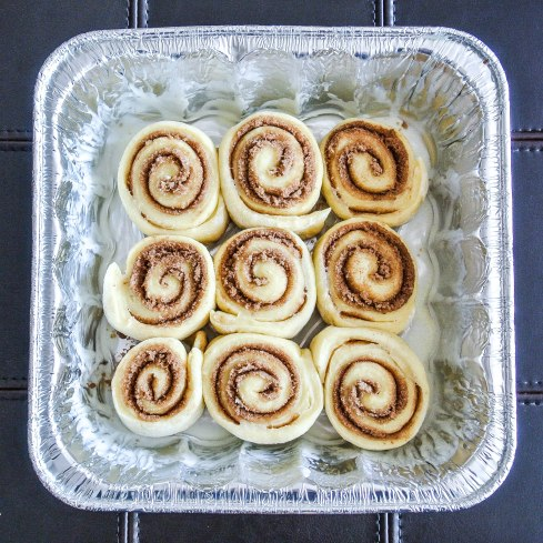 Overnight Cinnamon Rolls - Square