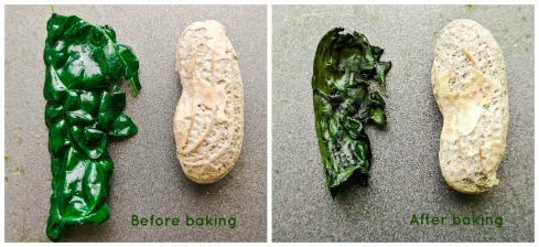 Peanut comparison - Kale chips
