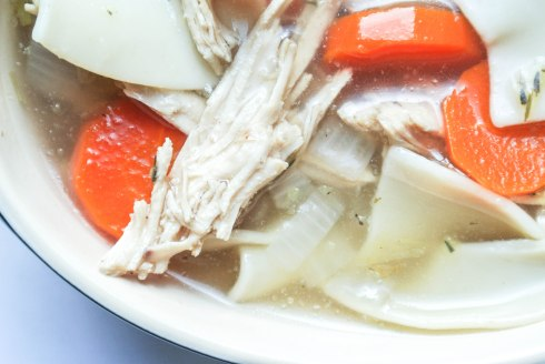 Healthy Chicken Noodle Soup-6